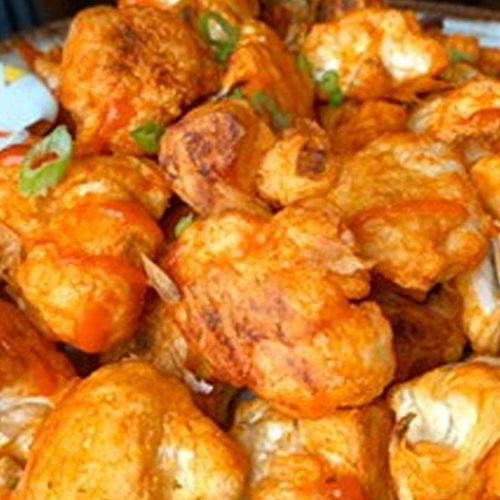 Cauliflower Wings with Cashew Ranch Dressing