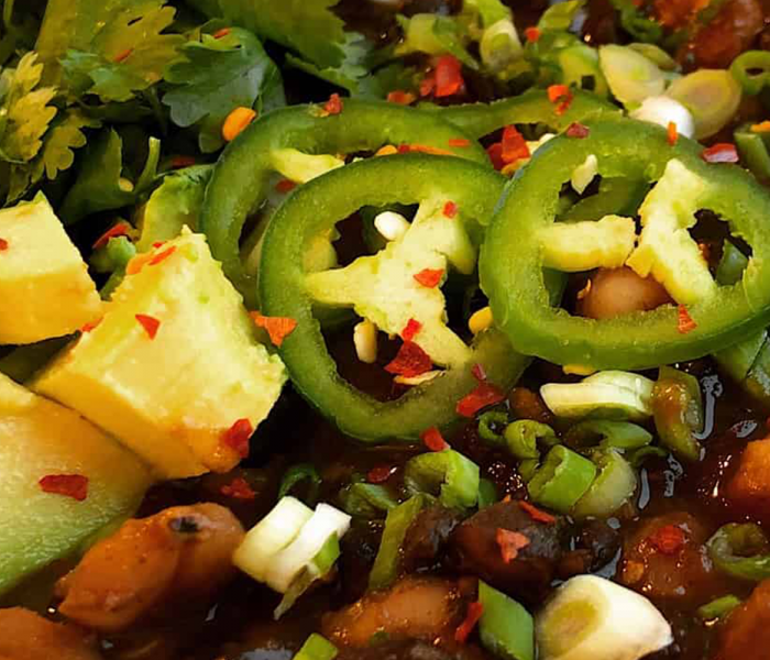 Plant-Based Spicy Bean Posole